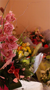 Flowers available in our adjacent florist