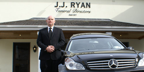 Phil Ryan aoutside the premises